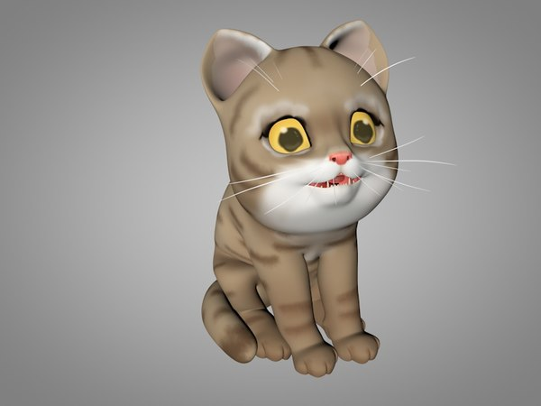 3D model kitty red