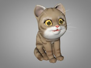 3D model kitty red