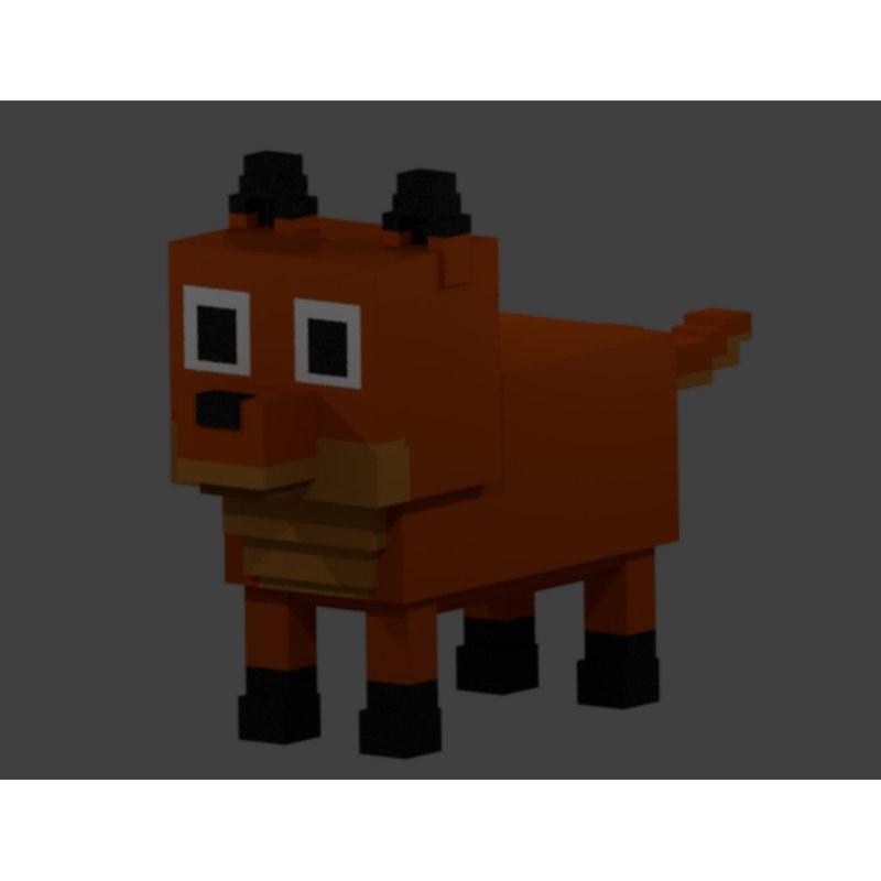 3D fox voxel