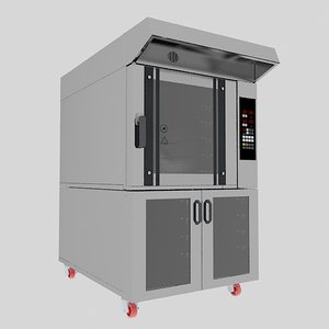3D convectional bakery oven industrial machine