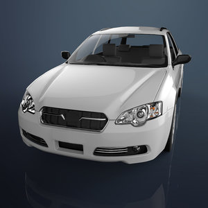 3D sedan car materials model