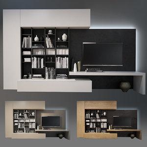 3D model wall tv
