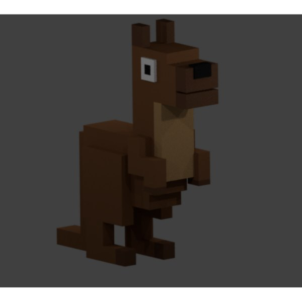 3D kangaroo animal