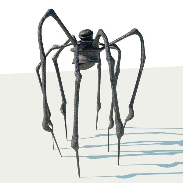 metal spider sculpture 3D model