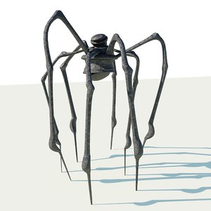 metal spider sculpture 3D model