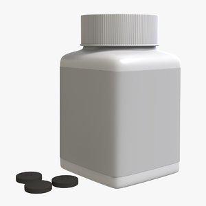 3D medical drug plastic container model