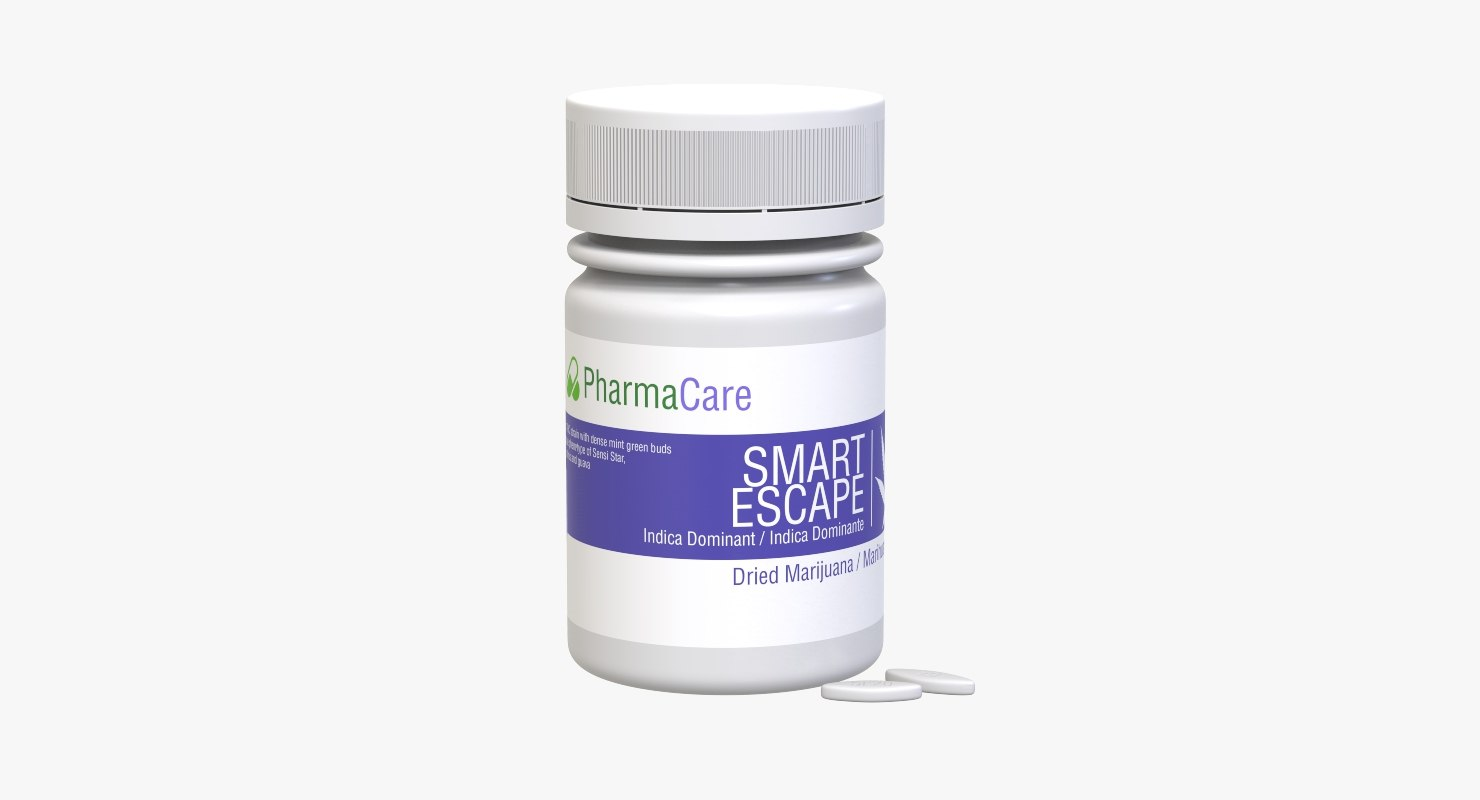 3D model medical drug plastic container