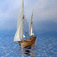 ship materials 3D model