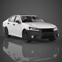 sedan car materials 3D model