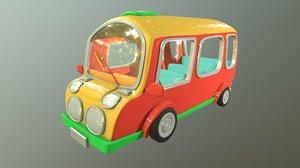 bus cartoons 3D model