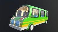 3D bus 02 cartoons