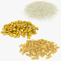 3D carbohydrates corn seeds