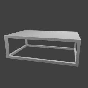 3D coffee table minimalist model