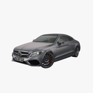 3D mercedes-benz w205 coupe model