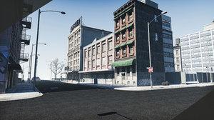 3D city block 4 model