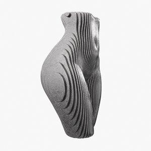 figurine shape body metal plates model