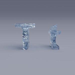 letter t 3D model