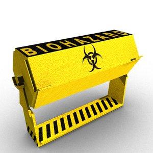 3D model bio hazard container