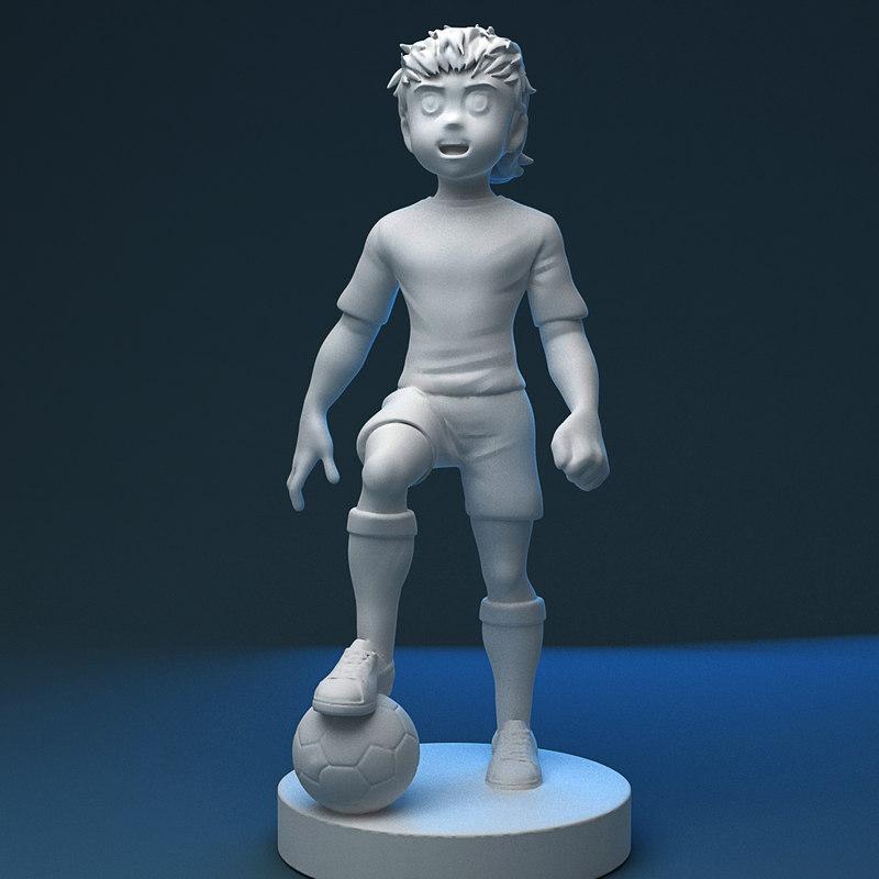 3D captain tsusaba model