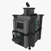 3D sci-fi outskirt model