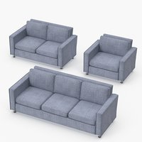 classic sofa set seat 3D model