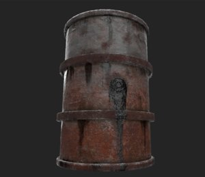 fuel barrel 3D