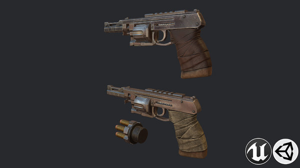 3D weapon gun pistol