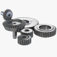 6 gears 3D model