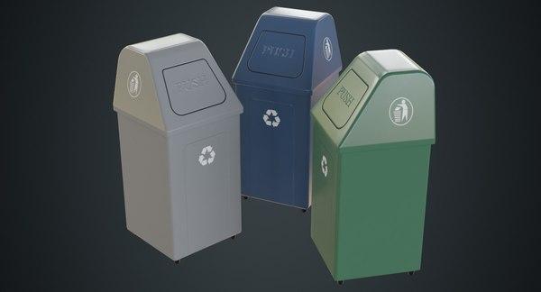 3D dustbin 5a