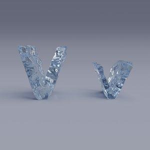 letter v model