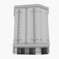 commercial highrise 3D model