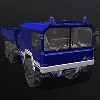 3D model man kat truck