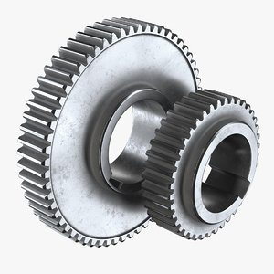 2 gears 3D
