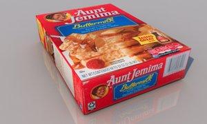 pancakes mix aunt jemima 3D model