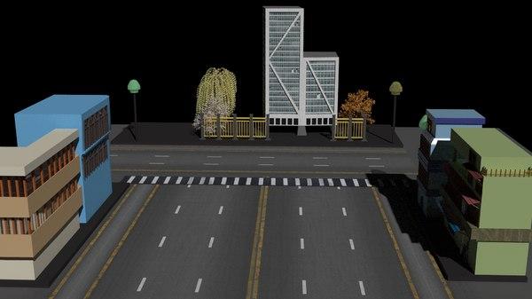 simple street 3D model