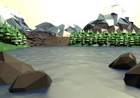 3D model cartoon minimalistic polygons