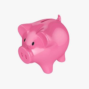 money box pig 3D