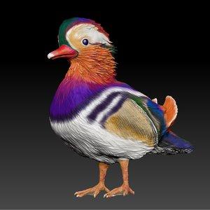 mandarin duck l080 3D model