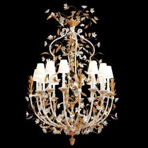 delisle porcelain chandelier flowers 3D model