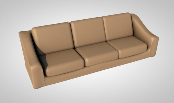sofa sectional contemporary 3D