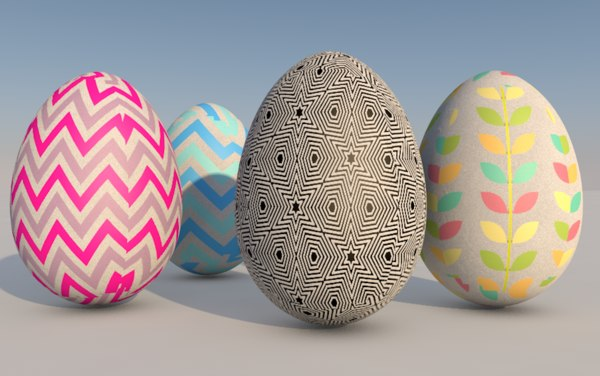 3D easter eggs east