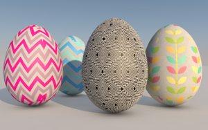 3D easter eggs east