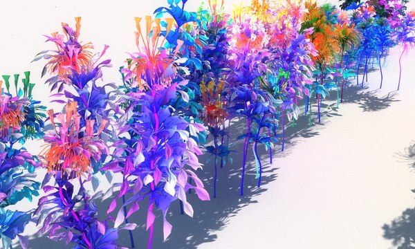 glowing flower pack model