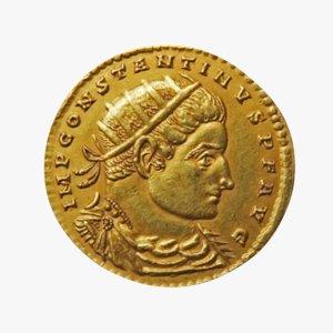 roman coin 3D