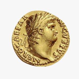 roman coin 3D model