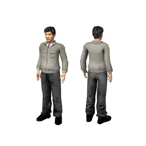 3D male casual