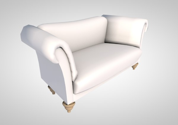 3D contemporary sofa furniture wood