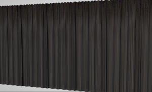 3D interior design curtains