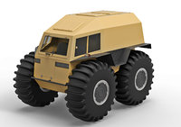 cross country vehicle 3D model