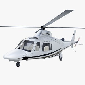 aw109 helicopter 3D model
